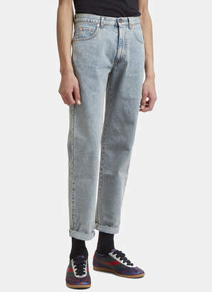 Gucci Washed Denim Jeans in Blue