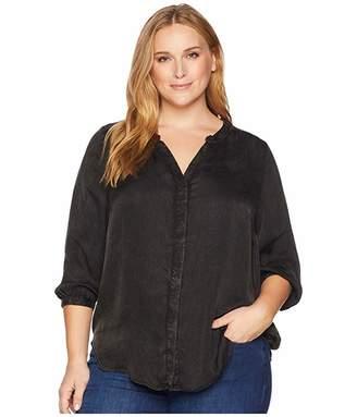 NYDJ Plus Size Plus Size Garment Dye Blouse w/ Studs