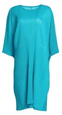 Pleats Please Issey Miyake Monthly Colors Short-Sleeve Shift Dress