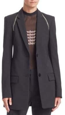 Alexander Wang Women's Zipper Trim Tailored Blazer - Black - Size 2