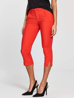 MANGO Crop Slim Fit Trouser - Red