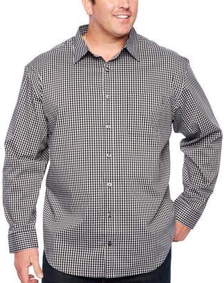 Van Heusen Traveler Performance Non-Iron Woven Long Sleeve Checked Button-Front Shirt-Big and Tall