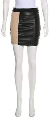 Mason Leather Paneled Skirt