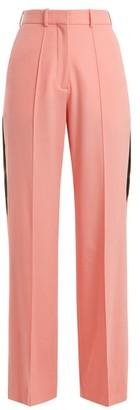 Racil - Cumberland Side Stripe Wide Leg Wool Trousers - Womens - Pink
