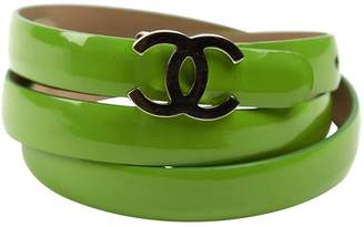 Chanel Vintage Green Patent leather Belts