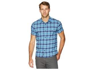 Lucky Brand Plaid Shop Shirt Men's Short Sleeve Button Up