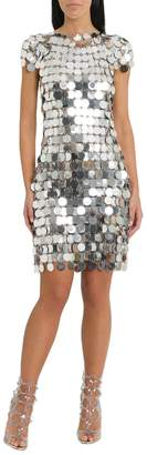 Paco Rabanne Silver Sequins Dress