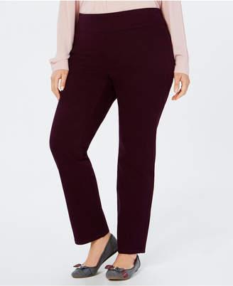 Charter Club Plus Size Cambridge Pull-On Pants