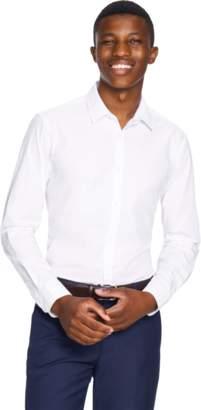 yd. WHITE LARGO SLIM FIT DRESS SHIRT