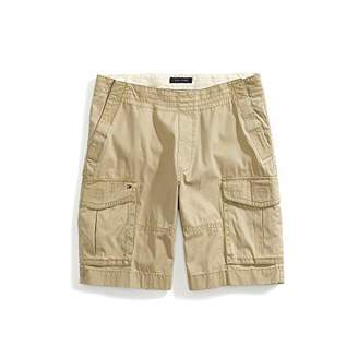 Tommy Hilfiger Adaptive Men's Seated Fit Cargo Shorts with Elastic Waist Adjustable Closure