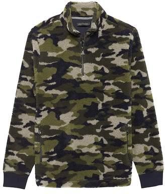 Banana Republic Camo Sherpa Half-Zip Sweatshirt