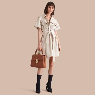 Burberry Burberry Tie-waist Cotton Shirt Dress
