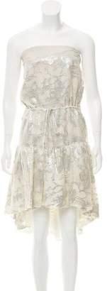 Halston Strapless Mini Dress