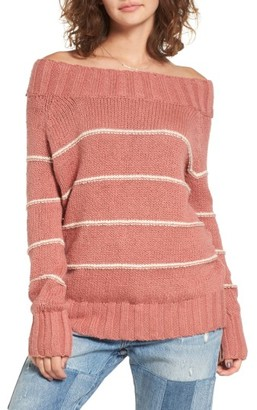 Women's Billabong Snuggle Down Off The Shoulder Sweater $64.95 thestylecure.com