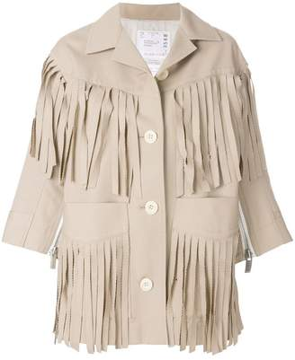 Sacai fringed jacket
