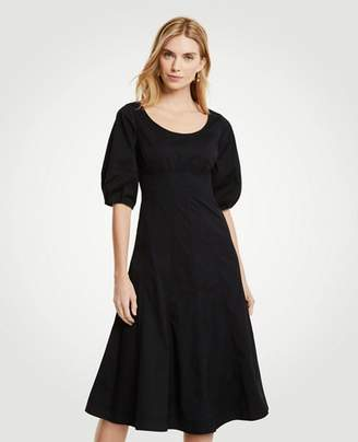Ann Taylor Poplin Corset Flare Dress