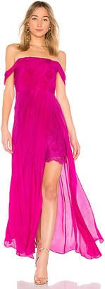 Aijek Arabella Off The Shoulder Maxi Dress