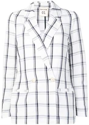Semi-Couture Semicouture check blazer