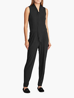 Ralph Lauren Simran Tie Neck Jumpsuit, Polo Black dbcd027879c