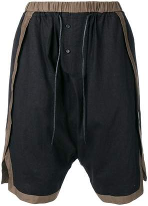 Joe Chia two tone drop-crotch shorts