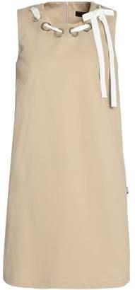 Love Moschino Bow-Detailed Cotton-Blend Corduroy Mini Dress