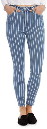 Miss Shop Riley Super High Waist Skinny Jean - Yds Stripe