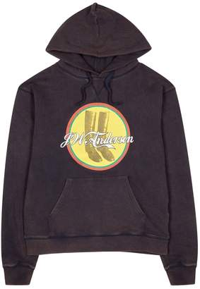 J.W.Anderson Cola Boots Hooded Cotton Sweatshirt