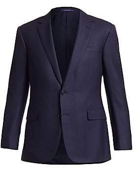 Ralph Lauren Purple Label Men's Douglas Two-Button Jacquard Wool, Linen& Silk Jacket