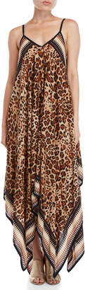 Accessory Street Leopard Print Maxi Cover-Up Dress