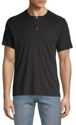 Saks Fifth Avenue Classic Cotton Henley