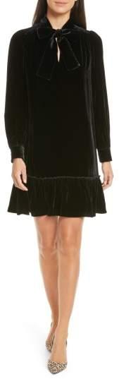 Women's Kate Spade New York Tie Front Velvet Shift Dress