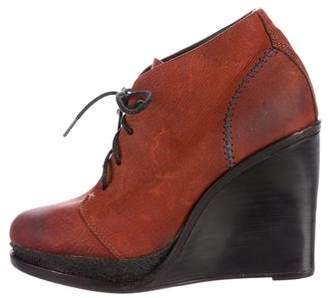 Rag & Bone Lace-Up Wedge Ankle Boots