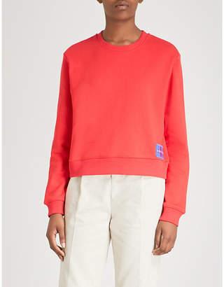 Calvin Klein Logo-patch cotton-blend sweatshirt