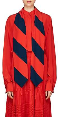 Givenchy Women's Silk Scarf-Neck Blouse