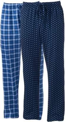 Hanes Big & Tall 2-pack Ultimate X-Temp Plaid Lounge Pants