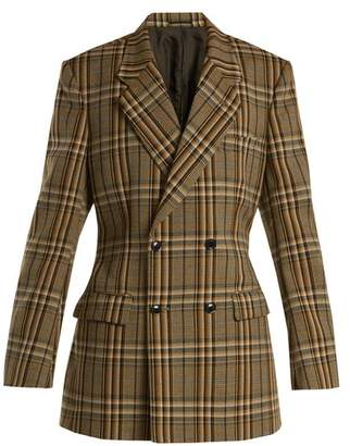 Toga Double-breasted checked jacket