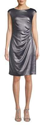 Lauren Ralph Lauren Becca Metallic Ruched Sheath Dress