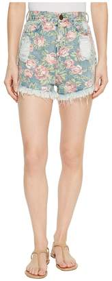 Show Me Your Mumu Toledo Tear Drop Shorts in Bella Rose Women's Shorts