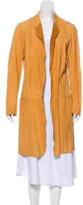 OMO Norma Kamali Leather Knee-Length Coat