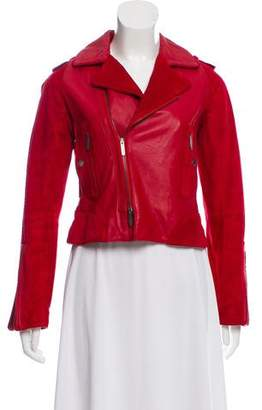 Zac Posen Suede-Accented Leather Jacket