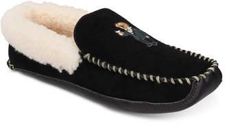 Polo Ralph Lauren Men Mason Suede Polo Bear Slippers