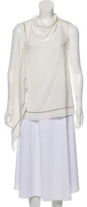 Fabiana Filippi Embellished Sleeveless Top