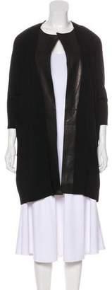 Kaufman Franco KAUFMANFRANCO Leather-Accented Wool Cardigan