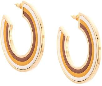 Marni stripe detail earrings
