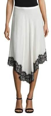 Derek Lam Silk Lace Handkerchief Skirt