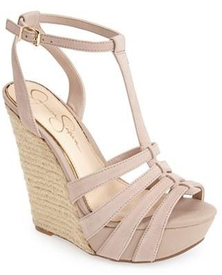 Jessica Simpson 'Bristol' Ankle Strap Platform Wedge Sandal (Women)