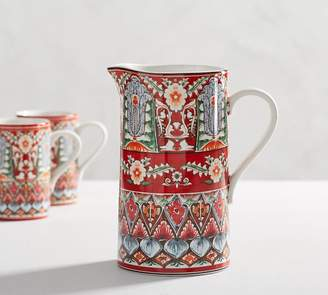 Pottery Barn Mezze Pitcher - Red