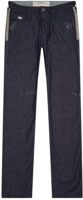 Emporio Armani Metallic Detail Slim Fit Jeans