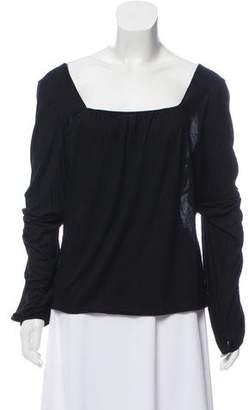 Versace Sheer Long Sleeve Top