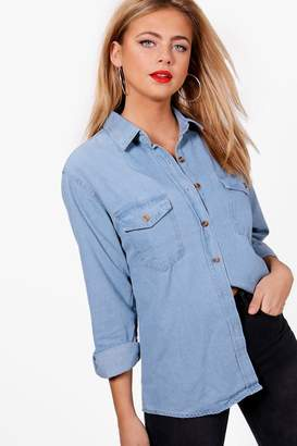 boohoo Oversize Denim Shirt